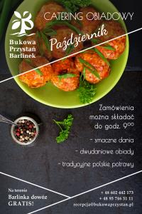Catering obiadowy - okładka- październik 2019 - Bukowa Przystań Barlinek