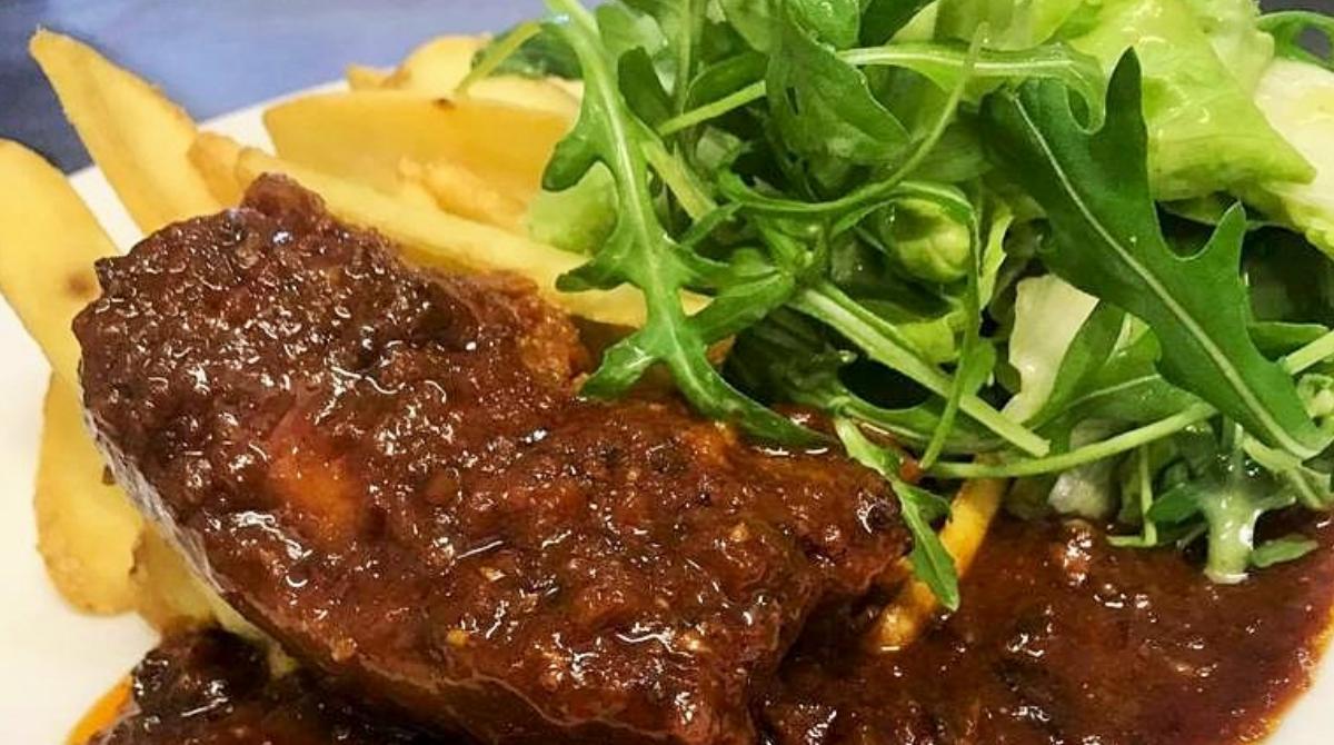 Żeberka wsosie BBQ - restauracja Bukowa Przystań Barlinek